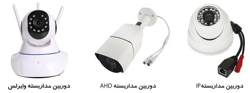 انواع دوربین مداربسته از نظر اتصال
